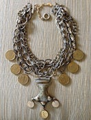 Image of Nepal pendant and coin necklace set