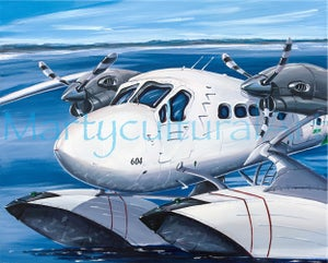 Image of Twin Otter Original Painting