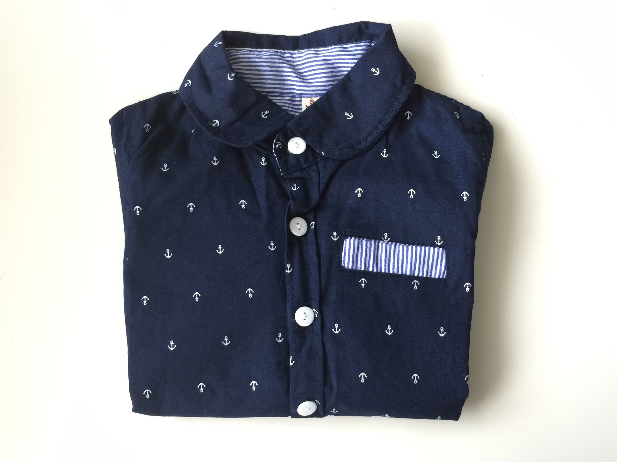 ... Couture AU — |||| IN STOCK |||| Boys' Anchor'd Dress Shirt (2-6