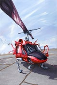 Image of Canadian Coast Guard Helicopter Open Edition Canvas Giclee