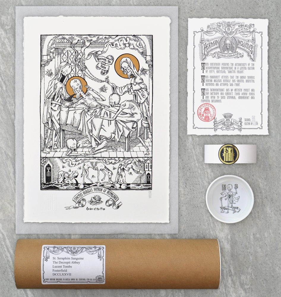 "Image of ""Sanctus Nurglus"" Screen Print"