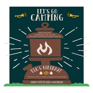 Image of Camping Invitation