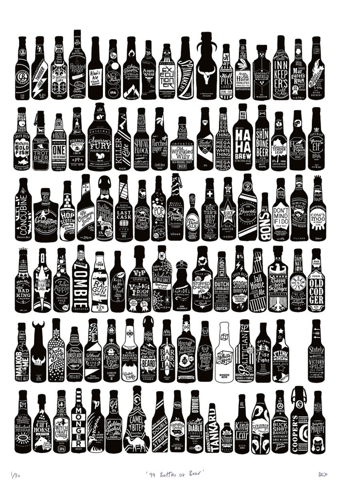 Image of 99 Bottles (White, 2015)