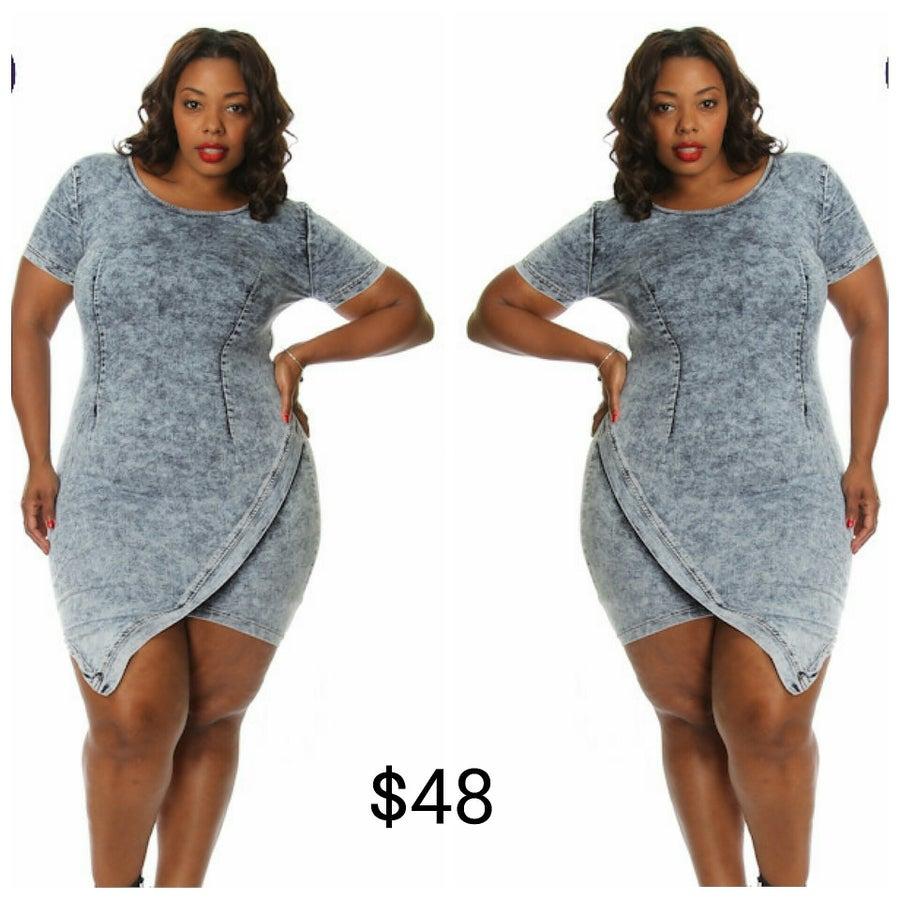 Image of Angled Denim Dress