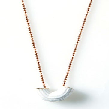 Image of Ceramic Macaroni Necklace