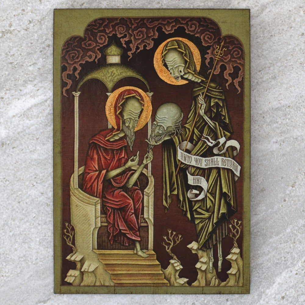 "Image of ""Unto you Shall Return"" Wooden Icon"