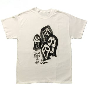 Image of ghost face tee
