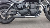Image of MAVERICK BOMBER EXHAUST PIPES (PAIR) SLIP ON TRIUMPH SPEEDMASTER AMERICA BONNEVILLE