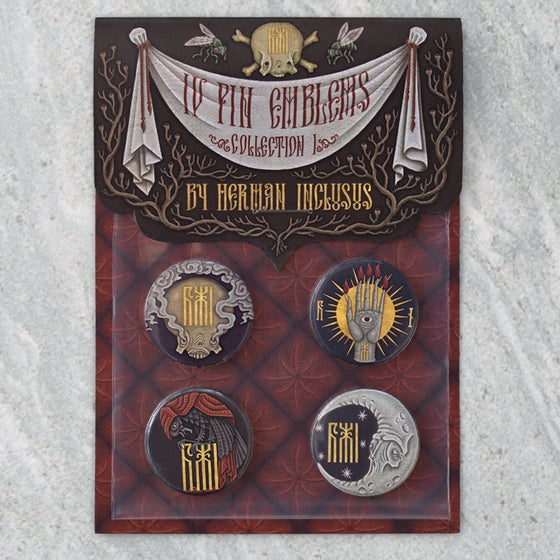 "Image of ""IV Pin Emblems: Collection I"" Button Badge Set"