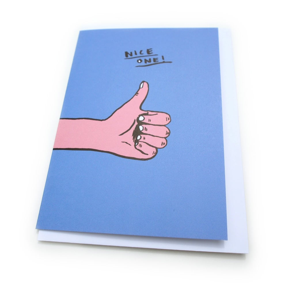 Image of Nice one! Greetings Card (thumbs up)
