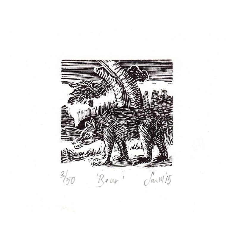 Image of 'Bear'- Wood engraving
