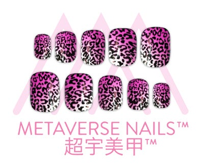 Image of Metaverse Nails- Neon Leopard (SKU: A1100-P)