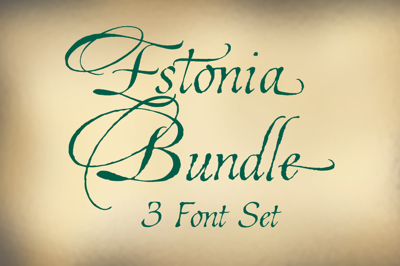 Image of Estonia 3 Font Bundle