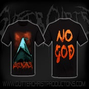 Image of GUTTER CHRIST NO GOD T SHIRT (IN STOCK)