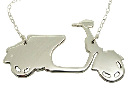 Image of Scooter Vespa Pendant Necklace