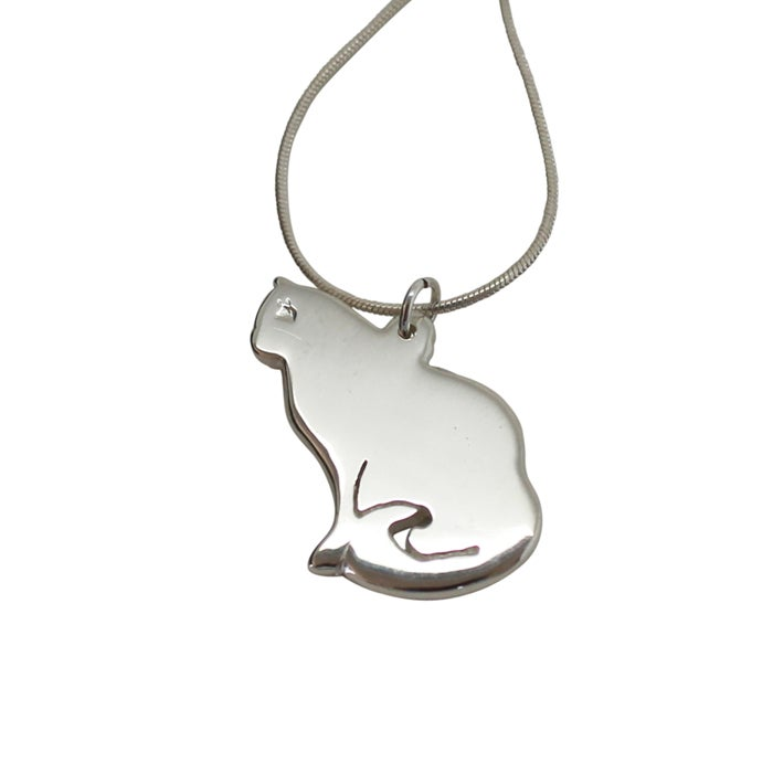 Image of SILHOUETTE CAT NECKLACE
