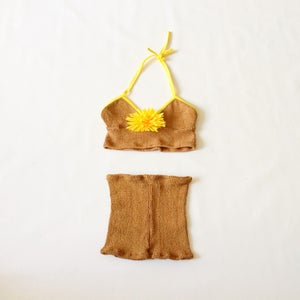 Image of Sunflower Crop Top & Shorts Co-ord