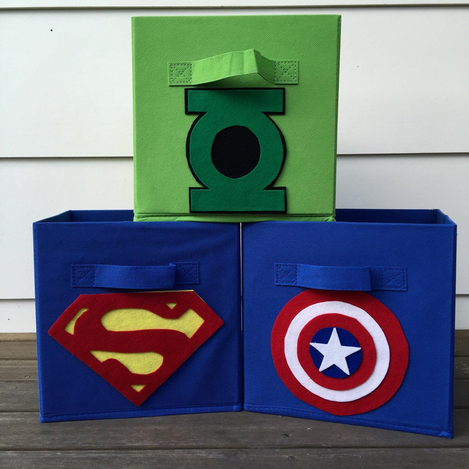 Nugbug Kids — Superhero storage boxes