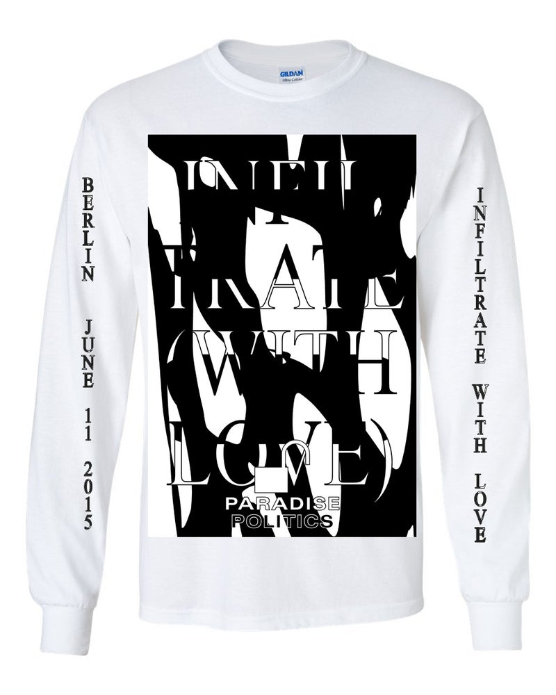 Image of Infiltrate with Love - In Support of Chelsea Manning Long Sleeve White