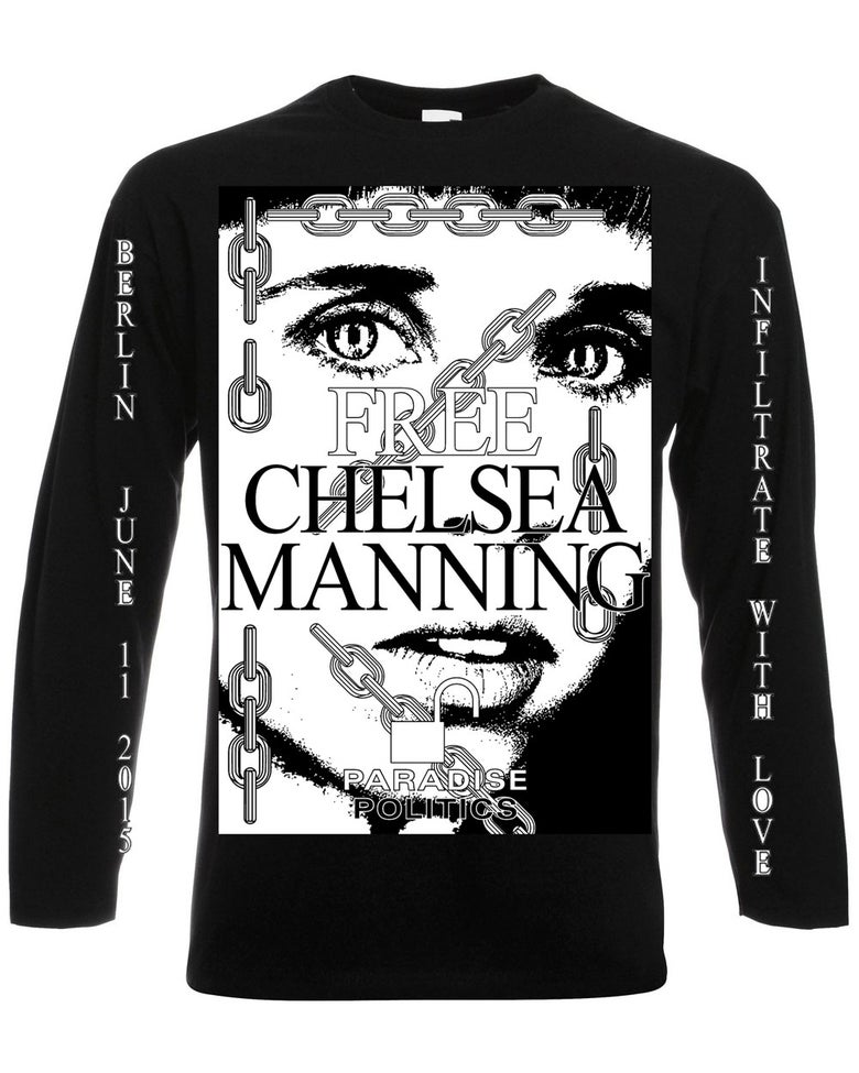 Image of Infiltrate with Love - In Support of Chelsea Manning Long Sleeve Black
