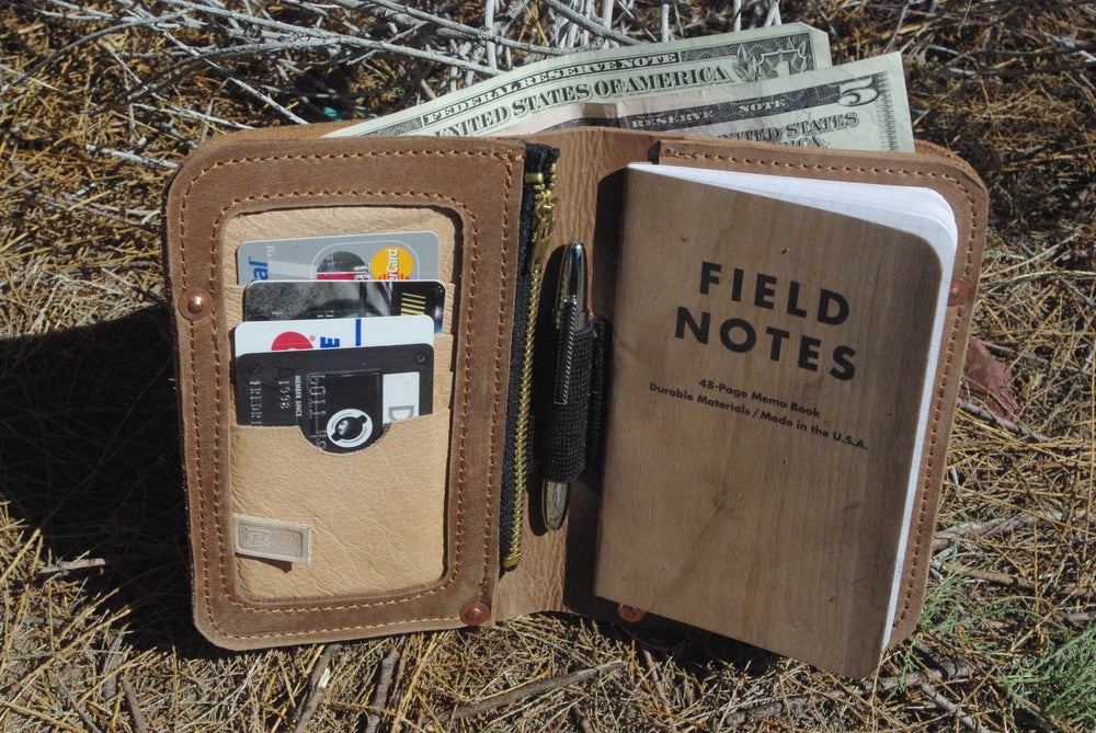 "Image of ""The Kit Carson II"" - Leather Pocketbook"