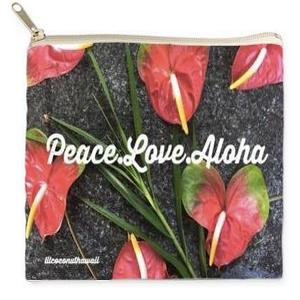 Image of Peace Love Aloha Clutch