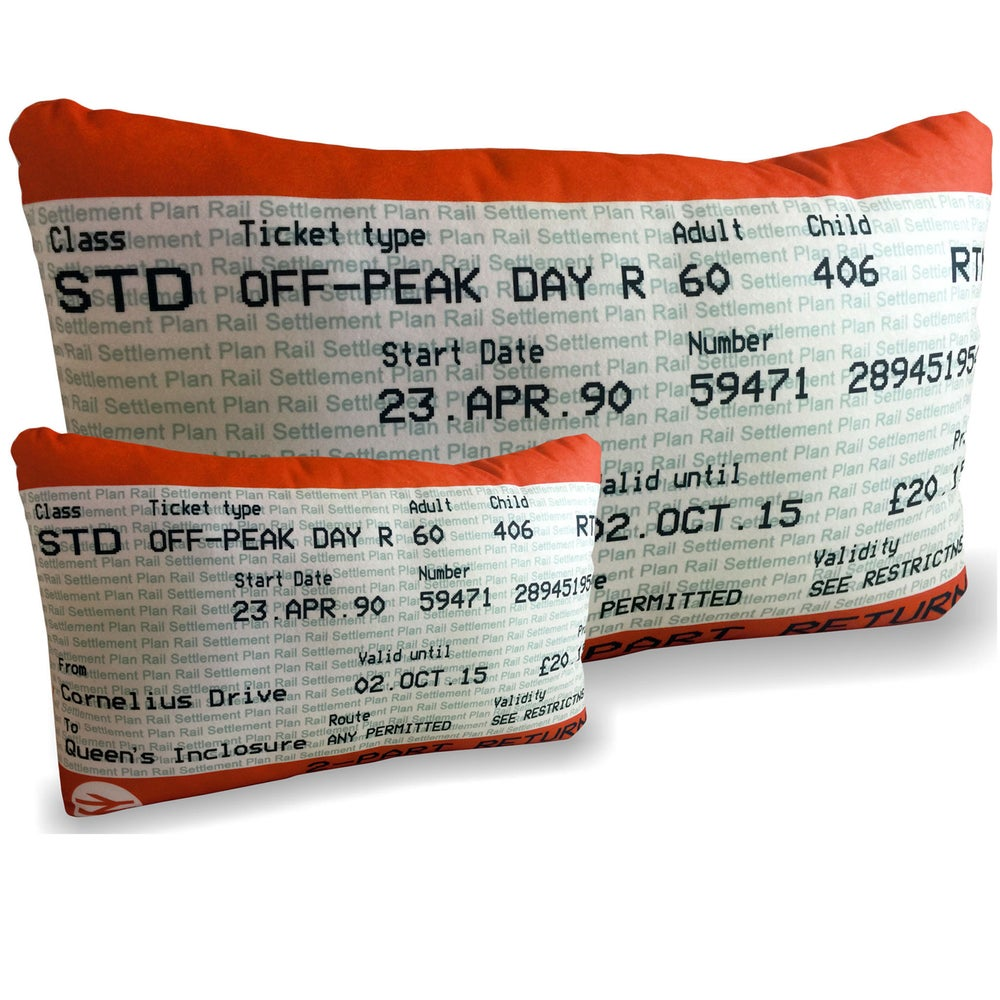 Image of Personalised Train Ticket Cushion