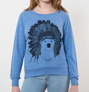 Image of Polar Bear Raglan - Kids/Adult