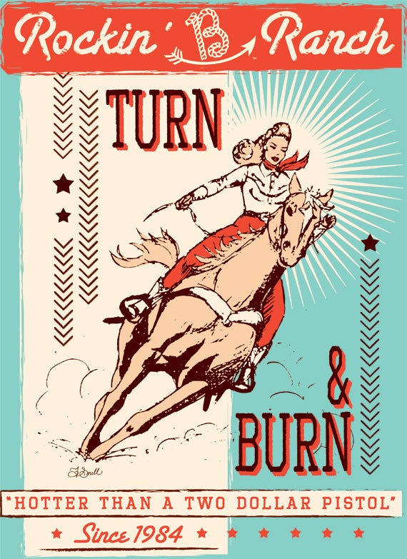 Image of Turn & Burn Vintage Cowgirl Tee