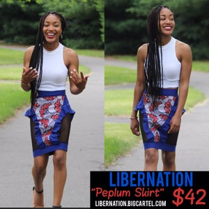 Image of LiberNation peplum skirt blue