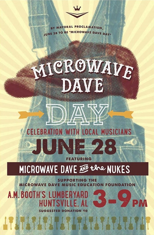 Image of Inaugural Microwave Dave Day Commemorative Poster SIGNED (+$7 shipping)