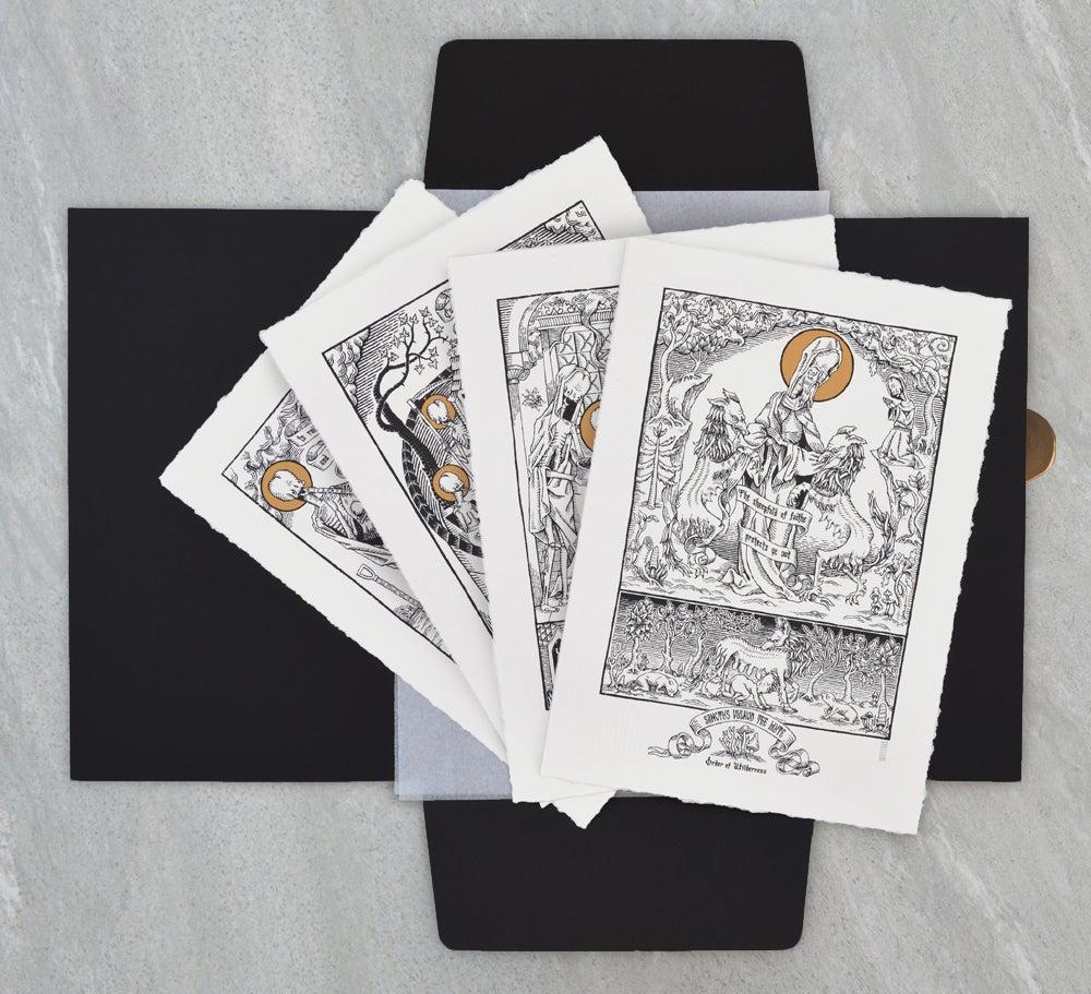 "Image of ""The Forgotten Saints"" Screen Print Portfolio"