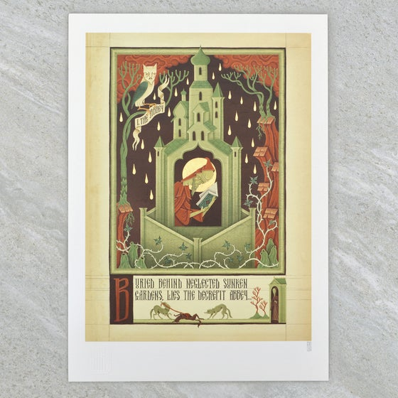 "Image of ""The Abbey"" Digital Print from Dismal Incantation"