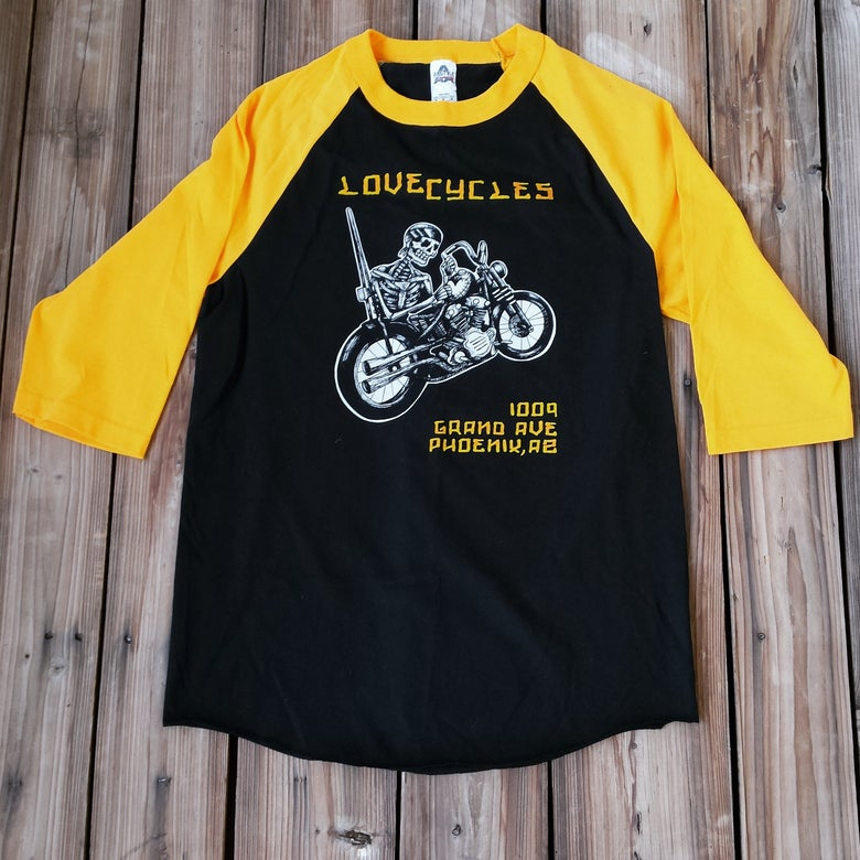 Image of Heart Mender Black and Yellow Baseball Tee