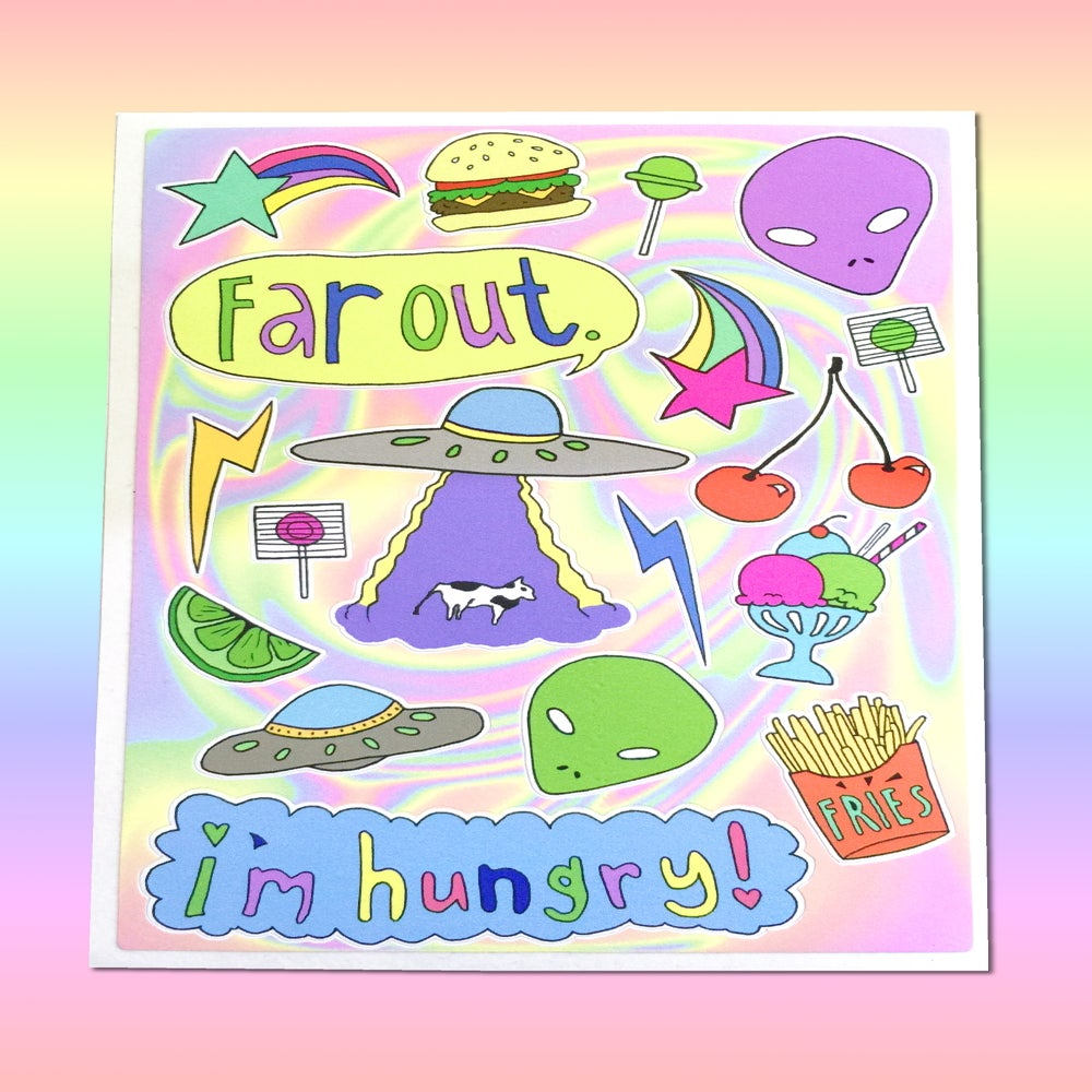 Image of HUNGRY ALIEN STICKER SHEET