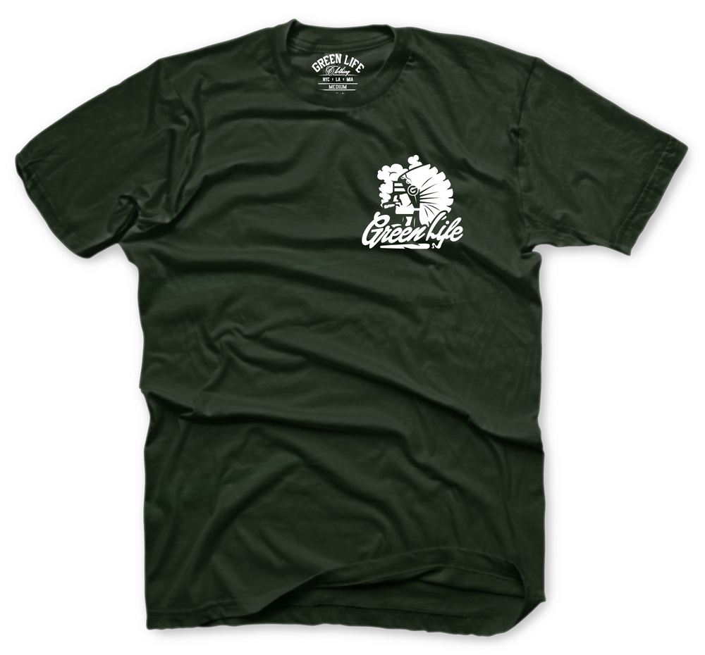 Image of The Chiefin' Tee in Forest Green