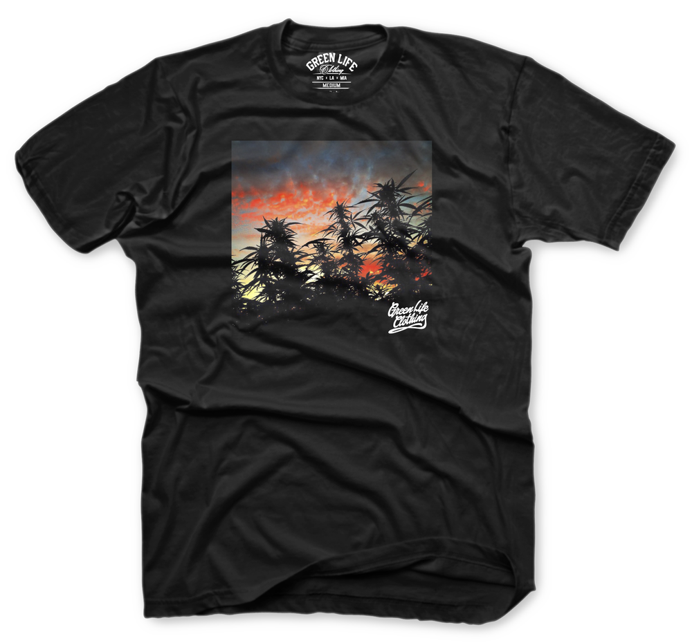 Image of The GreenLife Sunset Tee in Black
