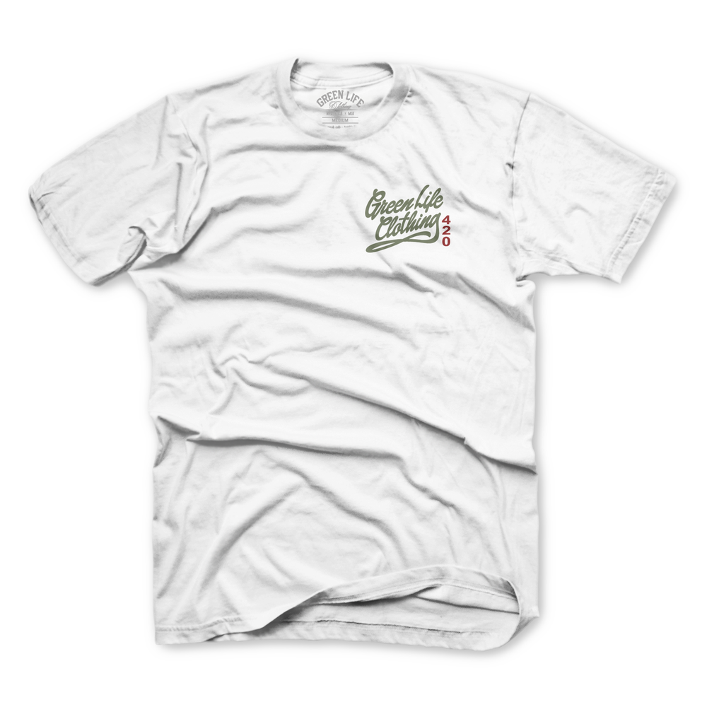 Image of The 420 Burlap Sack Tee in White