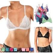 Image of Sheer Lace Bralet Bra (PRE ORDER)