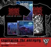 Image of ENGORGING THE AUTOPSY - black Shirt CD package