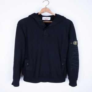 Image of Supreme x Stone Island - Panelled Fleece Garment Dye Hoodie