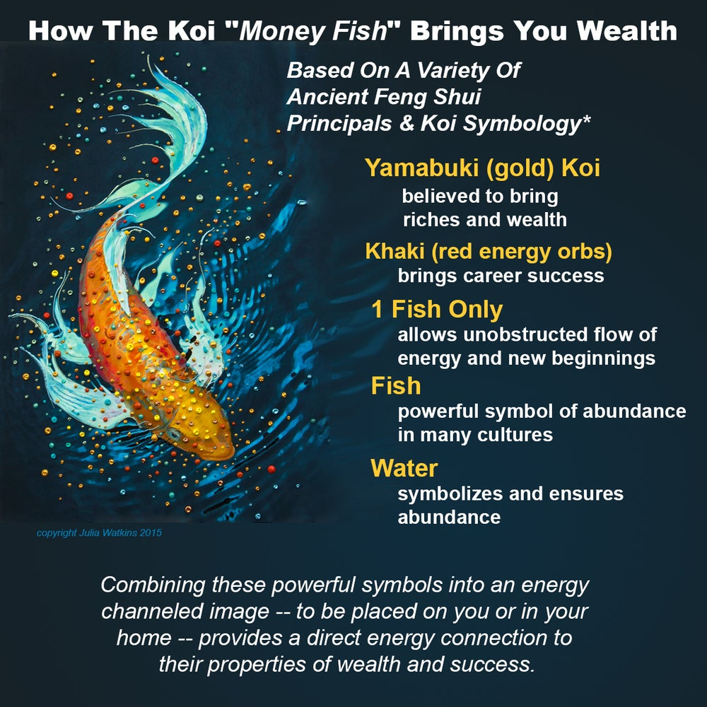 Image of the money fish wealth and abundance pendant for Fish on energy