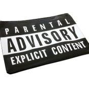 Image of Parental Advisory Clutch in Black