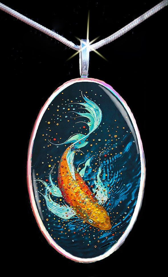 Image of The Money Fish Wealth And Abundance Pendant