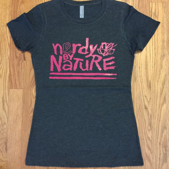 Image of ladies nerdy by nature. - graphic tee