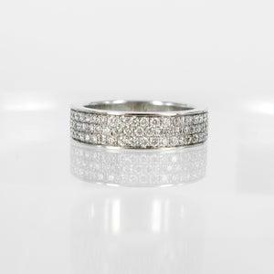 Image of PJ4664 18ct white gold Pave dress ring