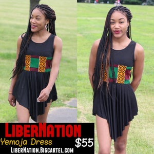 Image of LiberNation Black Yemoja Dress