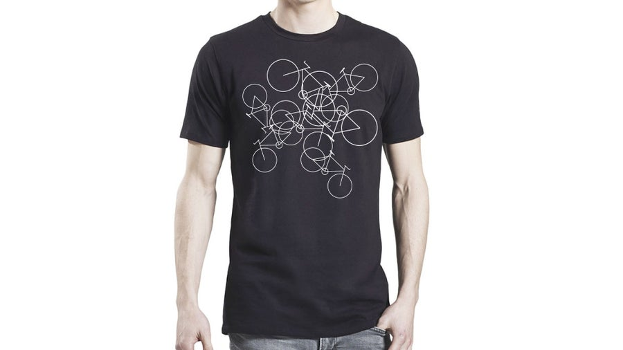 Image of Men's Bikes T-shirt - Black