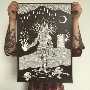 Image of 'Oak and Iron' Limited Edition Screen Print.