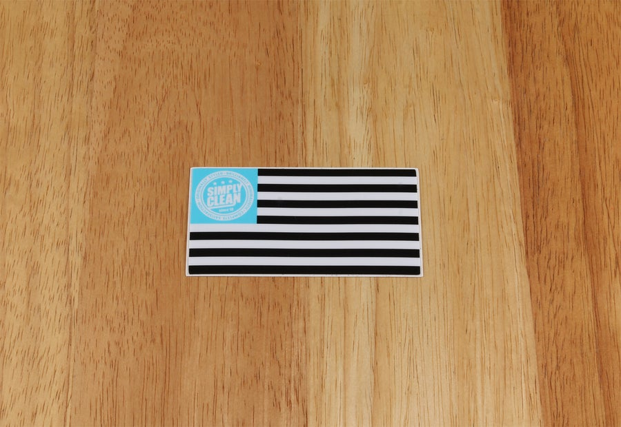 Image of Simply Clean Flag Sticker